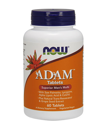 NOW ADAM™ Superior Mens Multiple Vitamin 60 Tabs.