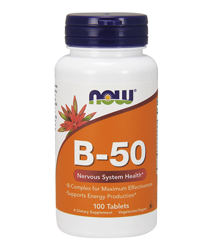 NOW Vitamin B-50 / 100tabs.