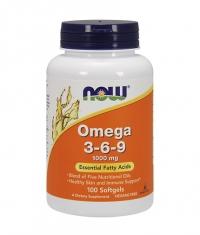 NOW Omega 3-6-9 / 1000mg. / 100 Softgels