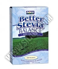 NOW Stevia Balance with Inulin & Chromium 100 Packs