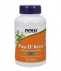 NOW Pau D' Arco 500 mg. / 100 Caps.