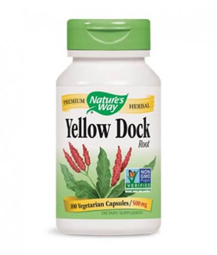 NATURES WAY Yellow Dock Root 100 Caps.