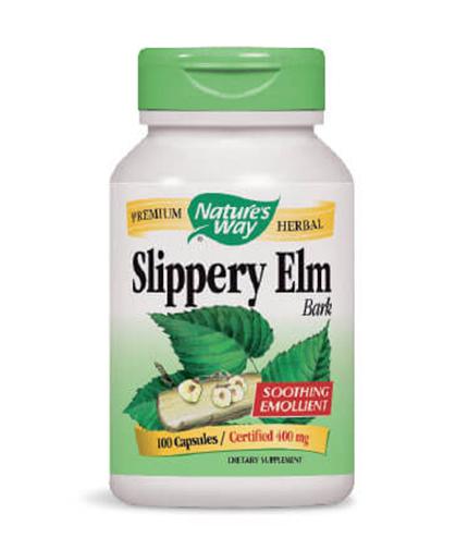 NATURES WAY Slippery Elm Bark 100 Caps.