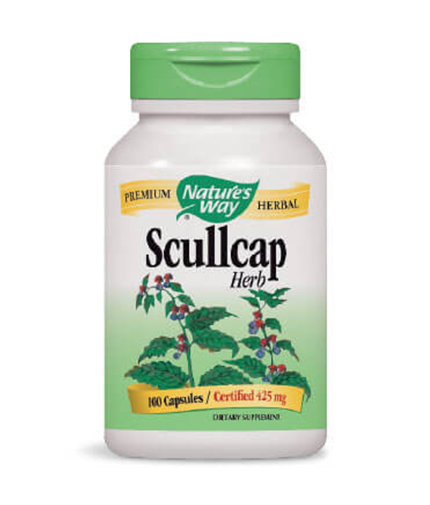 NATURES WAY Scullcap Herb 100 Caps.