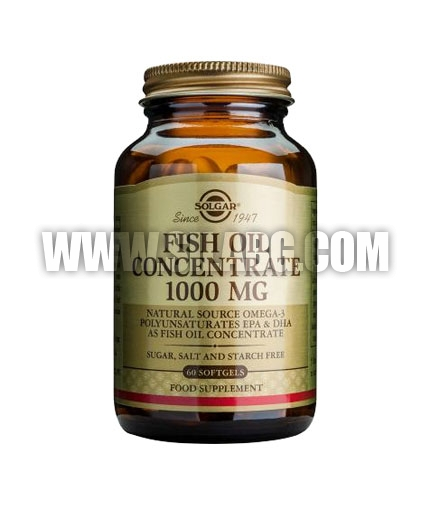 SOLGAR Fish Oil Concentrate 1000 mg. / 60 Soft.
