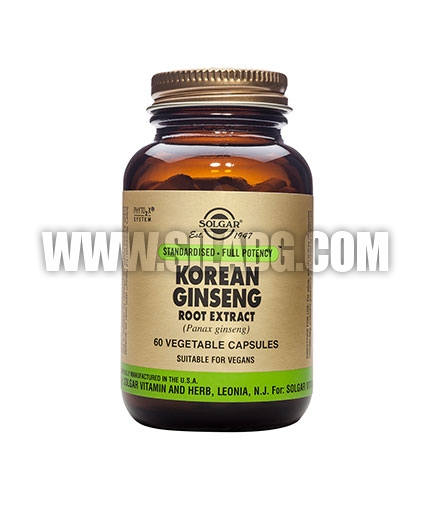 SOLGAR Korean Ginseng Root Extract, S.F.P. 60 Caps.