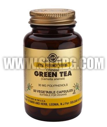 SOLGAR Green Tea, Chinese, F.P. 520 mg. / 50 Caps.