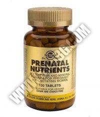 SOLGAR Prenatal Nutrients 120 Tabs.