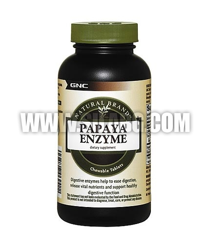 GNC Natural Brand Papaya Enzyme 90 Tabs.
