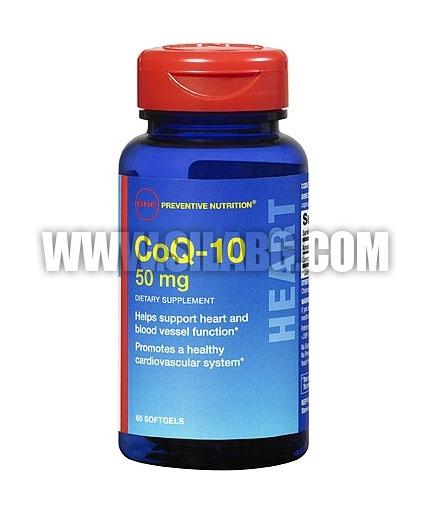 GNC CoQ-10 50 mg. / 60 Caps.